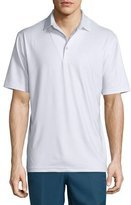 Peter Millar Mini Dot-Print Short-Sleeve Polo Shirt, White