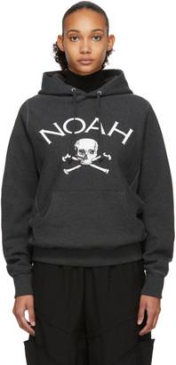 Noah NYC Grey Jolly Roger Hoodie