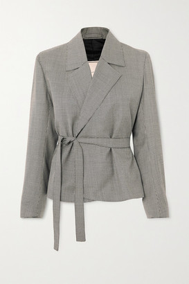 Giuliva Heritage Collection Lucy Houndstooth Wool Blazer - Gray