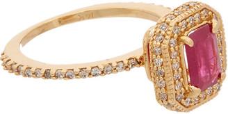 Effy Fine Jewelry 14K 1.31 Ct. Tw. Diamond & Ruby Ring