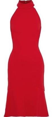 Badgley Mischka Fluted Stretch-cady Dress
