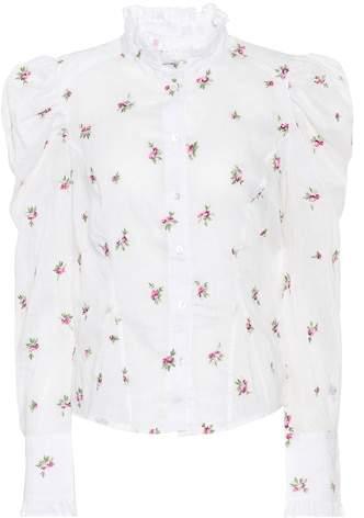 Isabel Marant Utah embroidered ramie shirt