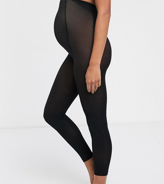 Lindex Maternity recycled super soft legging footless tights in black