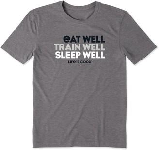 Life is Good Men's Eat Well, Train Well, SleepWell Cool Tee
