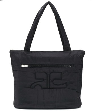Courreges quilted oversized shopper bag
