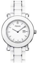 Fendi Diamond & Ceramic Round Watch, 38mm
