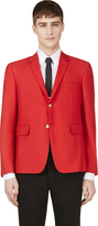 Thom Browne Red Laced-Back Blazer