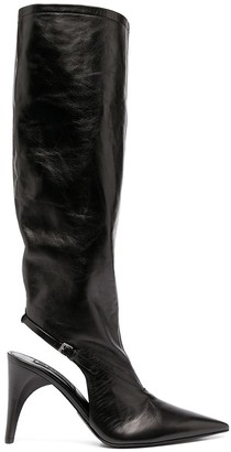 Jil Sander Cut-Out Leather Boots