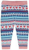 John Lewis Fairisle Knit Leggings, Red/Multi