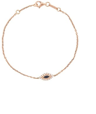 Anita Ko 18kt Rose Gold Evil Eye Sapphire And Diamond Bracelet