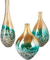 Twos Company Sunset Lustrous Teardrop Vases (Set of 3)