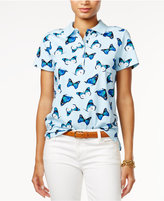 Tommy Hilfiger Short-Sleeve Butterfly Printed Polo, Only at Macy's