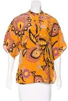 Gucci Silk Printed Blouse