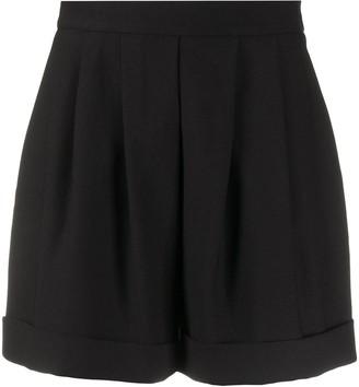 Hebe Studio High-Waist Pleated Shorts