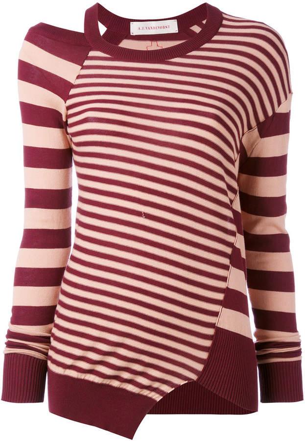 A.F.Vandevorst striped cut out top