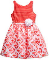 Sweet Heart Rose Floral-Print Dress, Little Girls (2-6X)