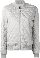 Eleventy quilted bomber jacket - women - Cotton/Silk/Polyester - S