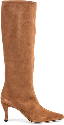 BY FAR Stevie 42 Leather Boot in Brown | FWRD