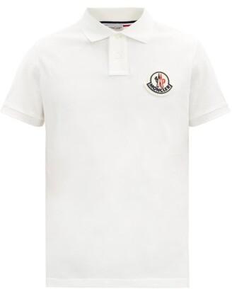 Moncler Logo-patch Cotton-pique Polo Shirt - White