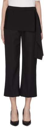 3.1 Phillip Lim Drape knit panel cropped suiting pants