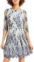 Oasis Lace Skater Dress, Blue