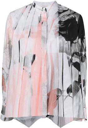 Alexander McQueen Rose-Print Shirt