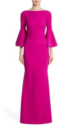 Chiara Boni Iva Bell Sleeve Evening Dress