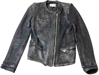 IRO Silver Leather Jackets