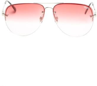 Quay Muse Fade 62mm Aviator Sunglasses