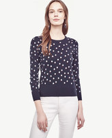 Ann Taylor Dot Jacquard Sweater
