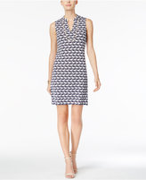 Charter Club Printed Split-Neck Shift Dress, Only at Macy's