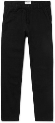Mr P. Tapered Selvedge Denim Jeans - Men - Black