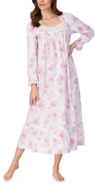 Eileen West Cotton Rose-Print Ballet Nightgown
