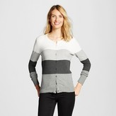 Merona Women's Favorite Cardigan Long Sleeve Color Block Stripe
