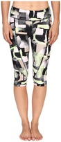 Zobha Printed Capris w/ Side Zip Pocket