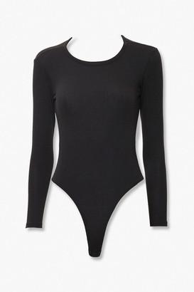 Forever 21 Ribbed Open-Back Bodysuit