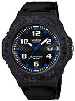 Casio Men's Black and Blue-Accented Analog Sport Watch