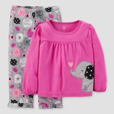 Just One You Baby Girls' 2pc Elephant Pajama Set - Just One You Made by Carter's® Purple