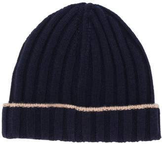 Brunello Cucinelli ribbed knit beanie hat