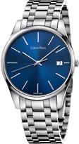 Calvin Klein Time blue stainless steel watch