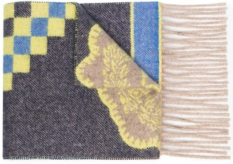 Etro Fantasia fringed cashmere scarf