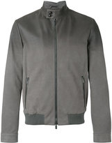 Tod's bomber jacket - men - Leather/Polyester/Viscose - M