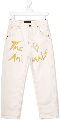 The Animals Observatory Logo-Print Jeans