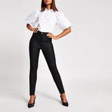 River Island Black coated Hailey high rise skinny jeans