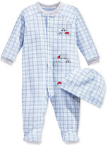 First Impressions Baby Set, Baby Boys Footed Vehicle Coverall and Beanie