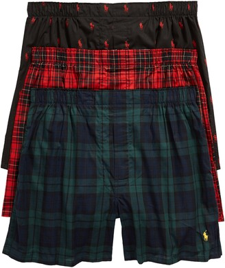 Polo Ralph Lauren 3-Pack Assorted Woven Cotton Boxers