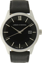 Larsson & Jennings Saxon 39mm stainless steel and leather watch