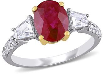 Diamond Select Cuts 14K Two-Tone 2.81 Ct. Tw. Diamond & Ruby Ring