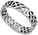 Sabrina Silver Sterling Silver Celtic Knot Ring Wedding Band Thumb Ring 3/16 inch wide, size 9.5