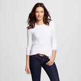 Women's Ultimate Long Sleeve Crew T-Shirt White M - Merona